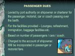 passenger dues