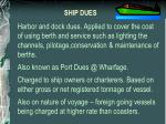 ship dues