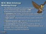 w3c web ontology working group