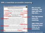 xml machine accessible meaning