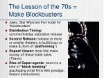 the lesson of the 70s make blockbusters