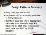 design patterns summary