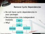 remove cyclic dependencies