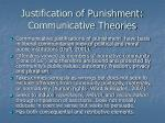 justification of punishment communicative theories