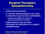 surgical therapies sympathectomy