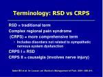 terminology rsd vs crps