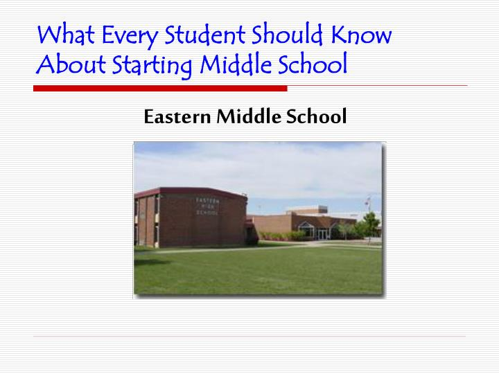 what every student should know about starting middle school n.