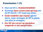 conclusies 1