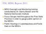 fsl mdg report 20116