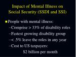 impact of mental illness on social security ssdi and ssi