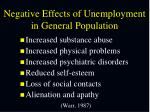 negative effects of unemployment in general population