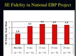 se fidelity in national ebp project