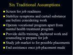 six traditional assumptions