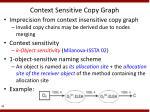 context sensitive copy graph