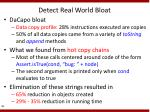 detect real world bloat