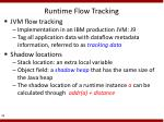 runtime flow tracking
