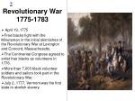 revolutionary war 1775 1783