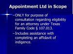 appointment ltd in scope