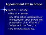 appointment ltd in scope1