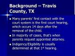 background travis county tx