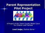 parent representation pilot project
