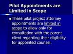 pilot appointments are limited in scope