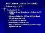 the detroit center for family advocacy cfa