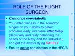 role of the flight surgeon