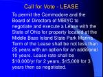 call for vote lease