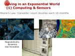 living in an exponential world 1 computing sensors