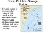 ocean pollution sewage sludge