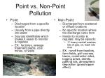 point vs non point pollution