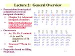lecture 2 general overview