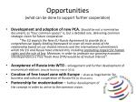 opportunities what can be done to support further cooperation