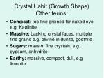 crystal habit growth shape other terms