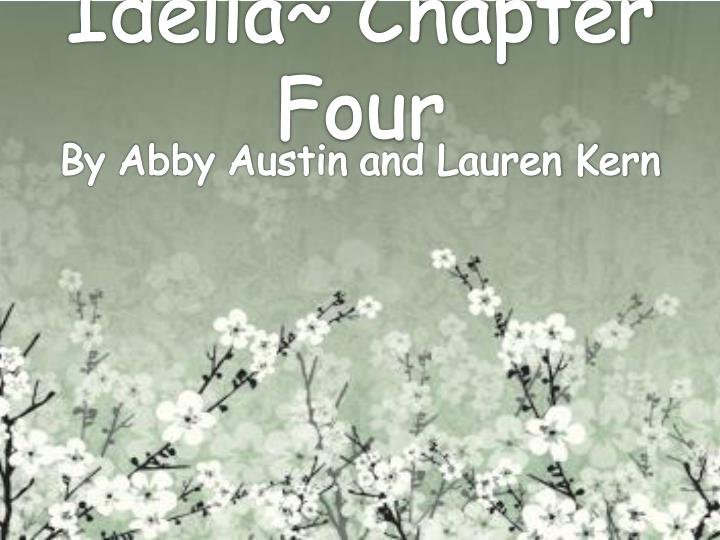 idella chapter four n.