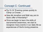 concept c continued