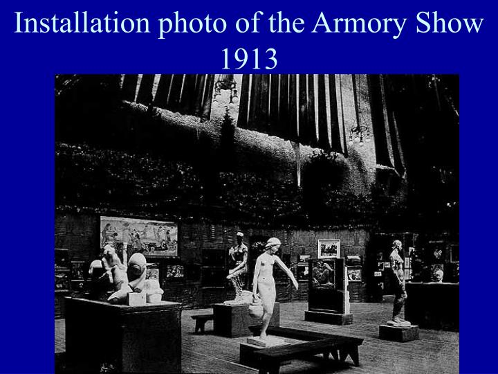 Installation photo of the Armory Show 1913
