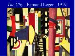 the city fernand leger 1919