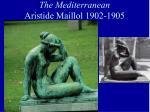 the mediterranean aristide maillol 1902 1905