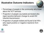 illustrative outcome indicators