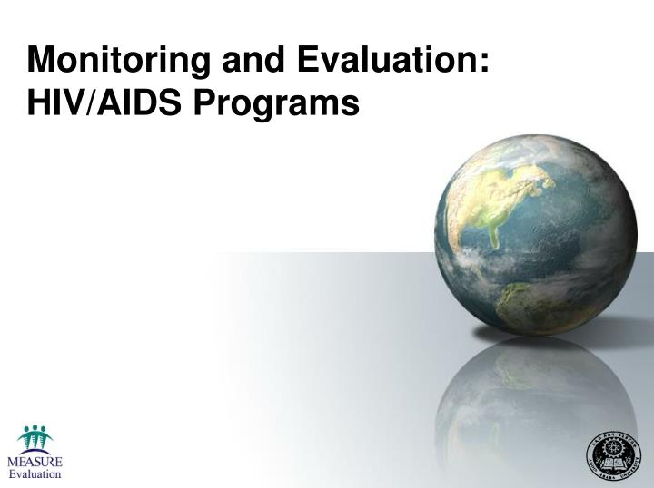 monitoring and evaluation hiv aids programs n.