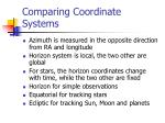comparing coordinate systems