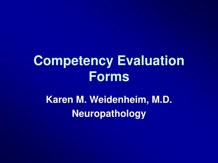 competency evaluation forms n.