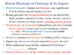 british blockade of germany its impact