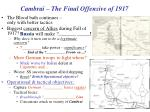 cambrai the final offensive of 1917