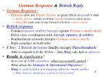 german response british reply