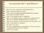 accessories do s and don ts
