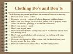 clothing do s and don ts