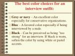 the best color choices for an interview outfit